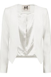 Milly Cropped Crepe Blazer White