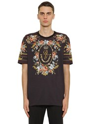 Dolce And Gabbana Floral Print Cotton Jersey T Shirt Array 0X579c338
