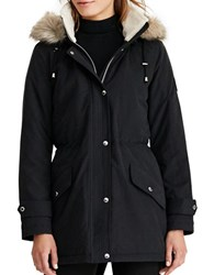 Lauren Ralph Lauren Faux Fur Trimmed Hooded Parka Black