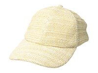 Bcbgmaxazria Natural Texture Baseball Hat Natural Baseball Caps Beige