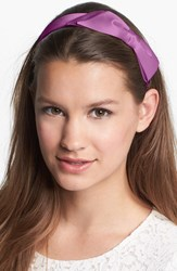 L. Erickson 'Bermuda Bow' Headband Pink Silk Charmeuse Radiant Orchid
