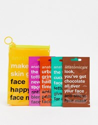 Anatomicals Asos Exclusive Make Your Skin Grin Face Happy Face Masks No Colour