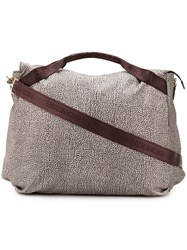 Borbonese Printed Tote Nude And Neutrals