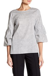 Lafayette 148 New York Mabel Blouse Rain Multi
