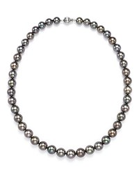 Tara Pearls Natural Color Tahitian Cultured Pearl Strand Necklace 17 Black