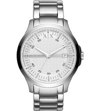 Armani Exchange Ax2177 Hampton Stainless Steel Watch Silver