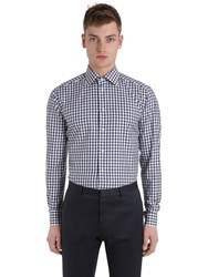 Eton Slim Fit Printed Cotton Twill Shirt