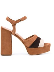 Derek Lam Platform Sandals Brown