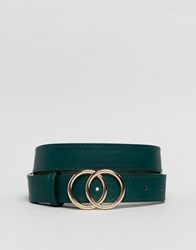 New Look Circle Belt In Green