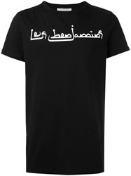 Les Benjamins Graphic Print T Shirt Black