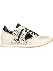 Philippe Model Perforated Panel Sneakers White