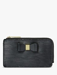 Ted Baker Blueb Leather Zipped Coin And Card Holder Black