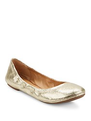 Lucky Brand Elysia Metallic Leather Ballet Flats Gold