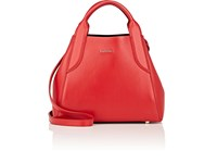 Lanvin Trapeze Mini Tote Bag Red