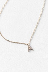 Urban Outfitters Rhinestone Initial Necklace
