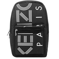 Kenzo Paris Logo One Shoulder Backpack Black