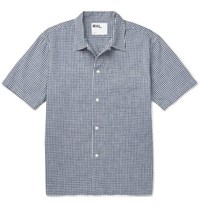 Margaret Howell Gingham Cotton Shirt Navy