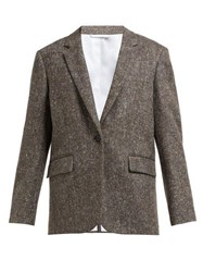 Calvin Klein 205W39nyc Oversized Single Breasted Wool Tweed Blazer Beige