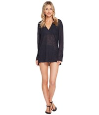 Billabong Love Lost Hooded Pullover Cover Up Black Sands Women's Swimwear