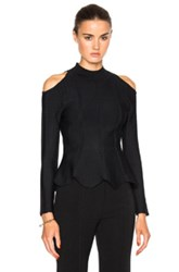 Jonathan Simkhai Cold Shoulder Sweater In Black