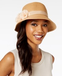 August Hats Fantasy Floral Cloche Natural