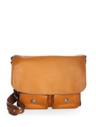 Coach Leather Messenger Bag Brown