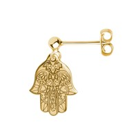 Cartergore Gold Hamsa Hand Single Short Drop Earring
