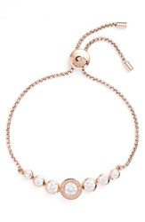 Michael Kors Women's Crystal Bracelet Rose Gold