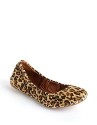 Lucky Brand Emmie Fabric Ballet Flats Animal Suede