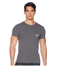 Emporio Armani Megalogo Slim Fit Crewneck T Shirt Anthracite Grey Pajama Gray