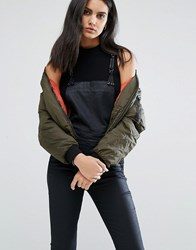 G Star Bomber Jacket With Zip Pocket Detail Forest Night Green