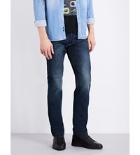 Replay Grover Straight Fit Tapered Jeans Blue