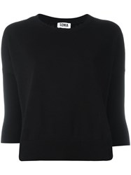 Sonia Rykiel By Three Quarters Sleeve Sweatshirt Black