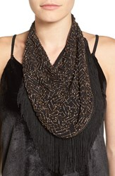 Steve Madden Women's Beaded Georgette Bib Scarf