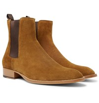 Sandro Suede Chelsea Boots Brown