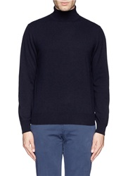 Canali Turtleneck Cashmere Sweater Black