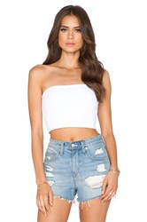 Susana Monaco Tube Crop Top White