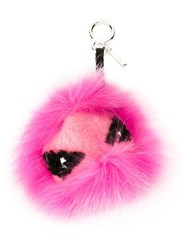 Fendi 'Eye Tria' Bag Bugs Bag Charm Pink And Purple