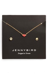 Jenny Bird Women's Kiss My Face Necklace Set Gold