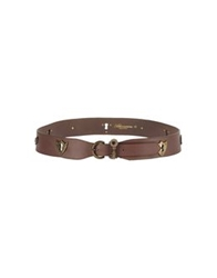 Blumarine Belts Dark Brown
