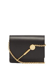 Sophie Hulme Cocktail Micro Stirrer Shiny Saddle Bag Black