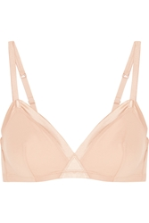 Eres Paradis Olympe Satin Trimmed Stretch Cotton Soft Cup Triangle Bra