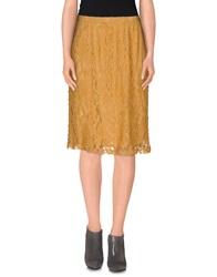 Lou Lou London Knee Length Skirts Brown