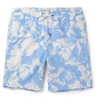 Onia Charle Mid Length Printed Wim Hort Sky Blue