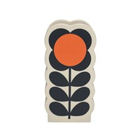 Orla Kiely Flower Spot Orange Olive Vase