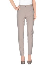 Fabrizio Lenzi Trousers Casual Trousers Women Light Grey