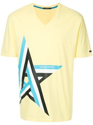 Guild Prime Striped Star Print T Shirt Yellow And Orange