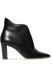 Malone Souliers Clara 70 Leather Ankle Boots Black