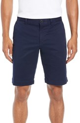 Lacoste Big And Tall Slim Fit Stretch Cotton Shorts Navy Blue