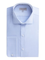 Alexandre Of England Men's Blue Twill Stripe Shirt Blue